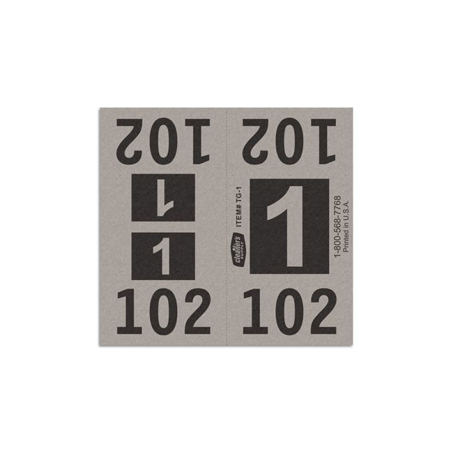 Etiquetas - Tickets Numerados  - CLEANER SUPPLY - #1 Gris 1000/1 - Und