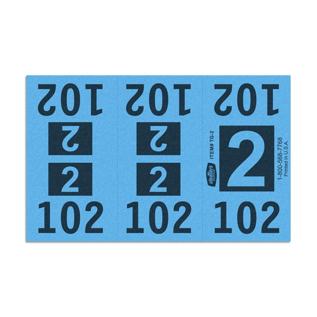 Etiquetas - Tickets Numerados  - CLEANER SUPPLY - #2 Azul 1000/1 - Und