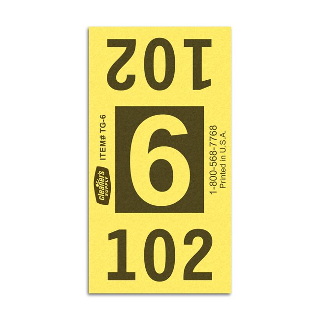 Etiquetas - Tickets Numerados  - Cleaner Supply - #6 Amarillo 7000/1 - Und