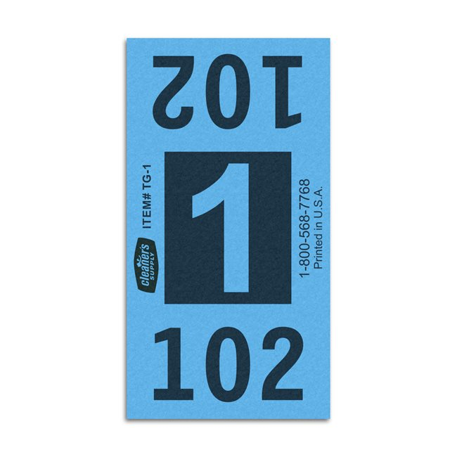 Etiquetas - Tickets Numerados  - CLEANER SUPPLY - #1 Azul 1000/1 - Und