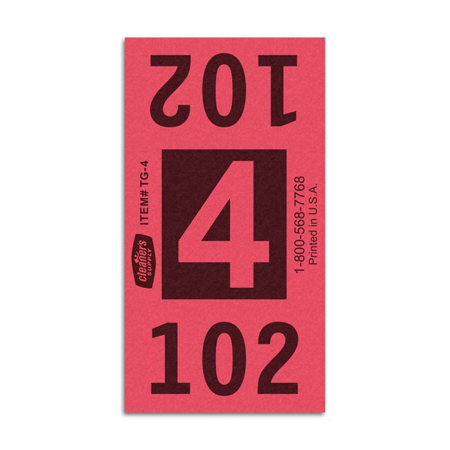 Etiquetas - Tickets Numerados  - Cleaner Supply - #4 Rojo 5000/1 - Und