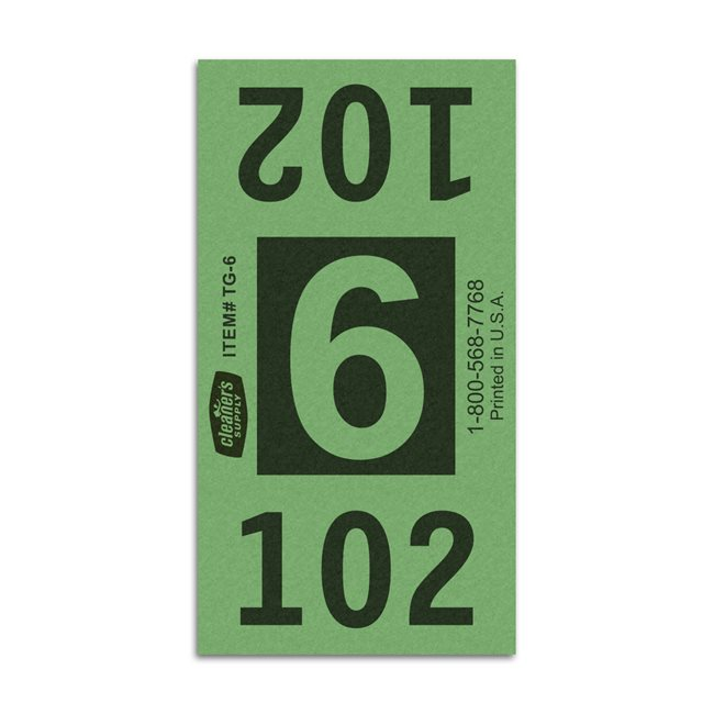Etiquetas - Tickets Numerados  - Cleaner Supply - #6 Verde 7000/1 - Und