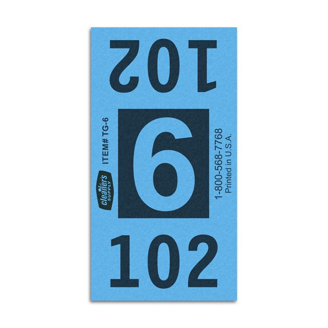 Etiquetas - Tickets Numerados  - CLEANER SUPPLY - #6 Azul - Und