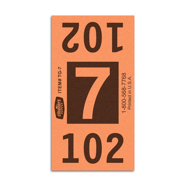 Etiquetas - Tickets Numerados  - Cleaner Supply - #7 Naranja 8000/1 - Und