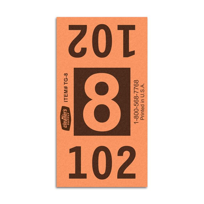 Etiquetas - Tickets Numerados  - CLEANER SUPPLY - #8 Naranja - Und